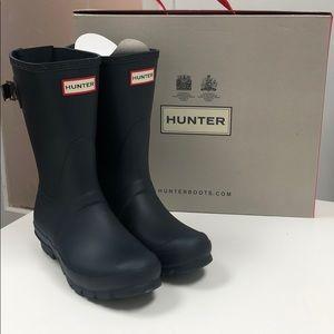 Hunter original back adjusted short boots size 6